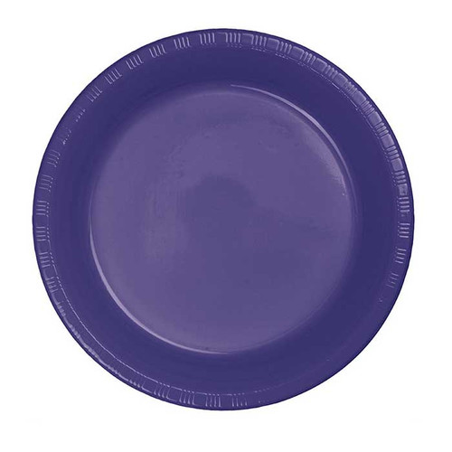 "Purple 7"" Plastic Lunch Plates"