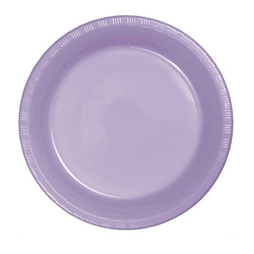"Lavender 7"" Plastic Lunch Plates"