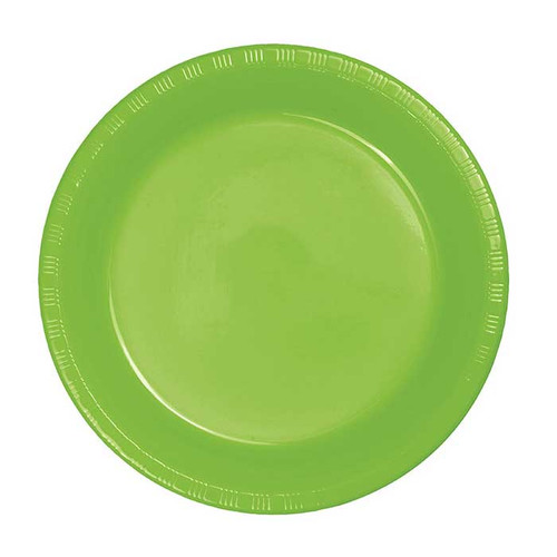 """Lime Green 7"""" Plastic Lunch Plates"""
