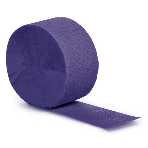 Purple 81' Solid Crepe Streamer