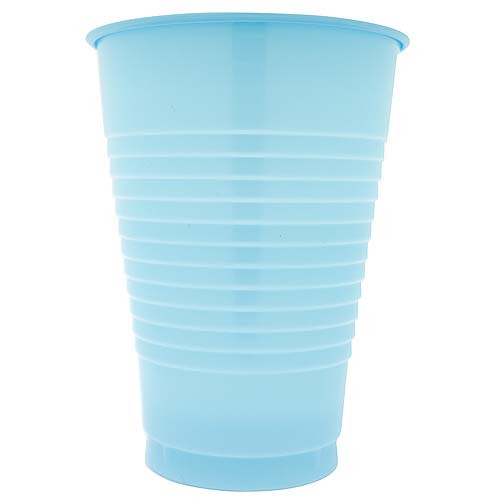 Light Blue 12 Oz Solid Plastic Cups