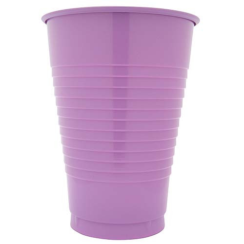 Lavender 12 Oz Solid Plastic Cups