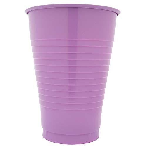 Lavender 12 Oz Solid Plastic Cups
