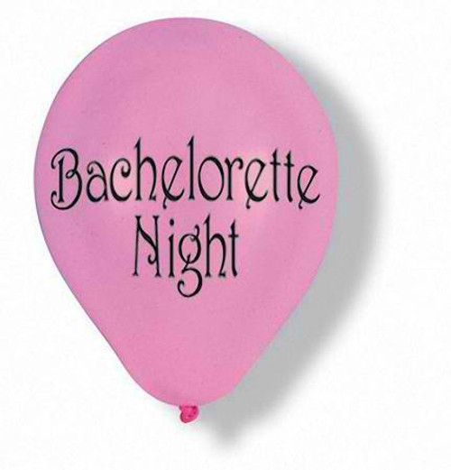 "12"" Bachelorette Night Latex Balloon"