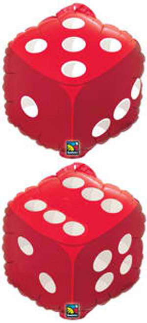 "18"" Red Dice Junior Shape Balloon"