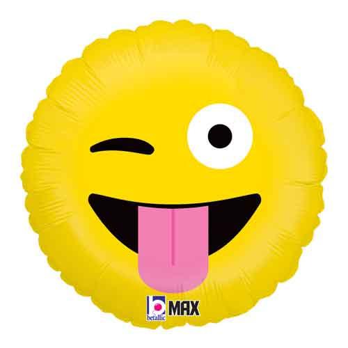 "18"" Emoji Wacky Balloon"