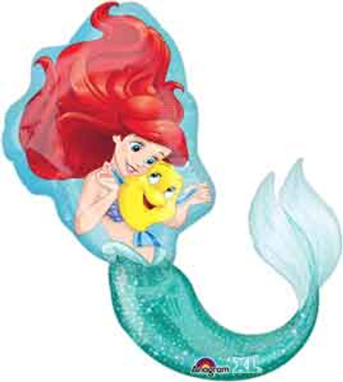 "34"" Little Mermaid Ariel Dream Big Shape Balloon"