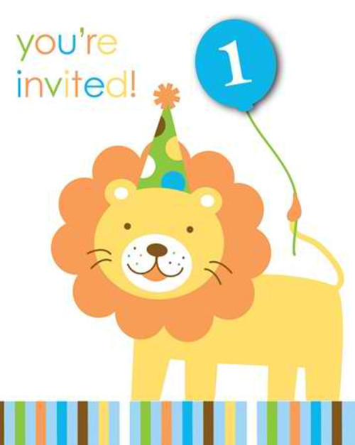 Sweet At One Boy Invitation Cards & Envelopes