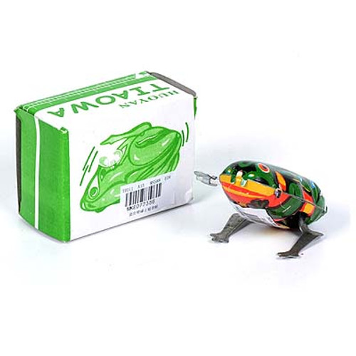 Retro Metal Wind up Jumping Frog
