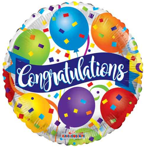 "18"" Congratulations Banner Balloon"