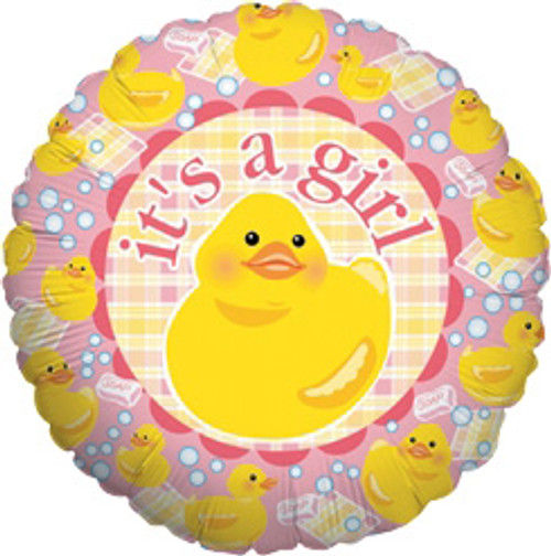 "18"" It's a Girl Ducky Balloon"