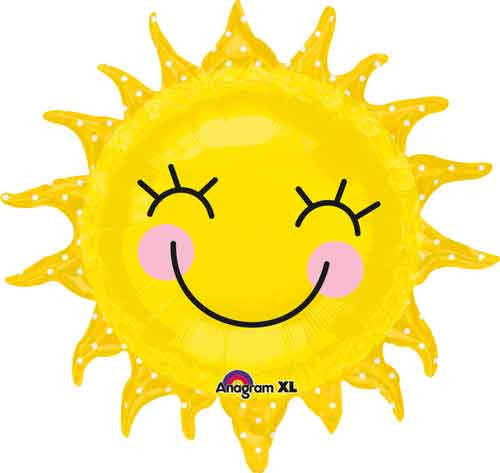 "25"" Sunshine Sun Super Shape Balloon"