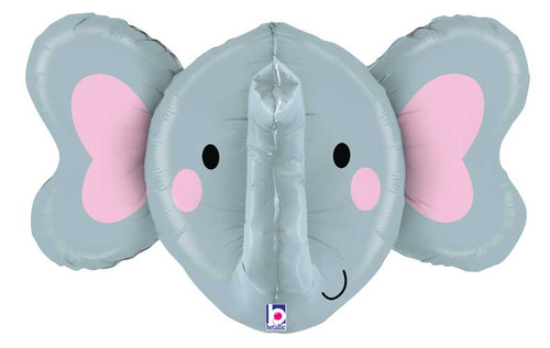 "34"" Elephant Head Dimensional Super Shape Balloon"