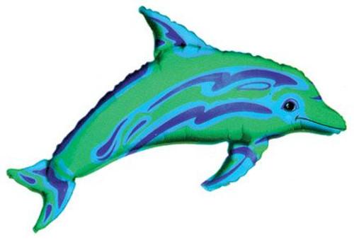 "37"" Ocean Blue Dolphin Super Shape Balloon"