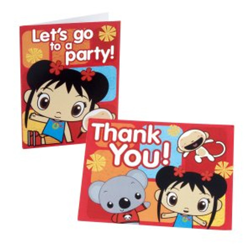 Ni Hao Kai Lan Invitations & Thank You Postcards