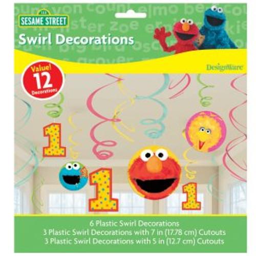 Sesame Street 1st Birthday Swirl Danglers 12ps/pack