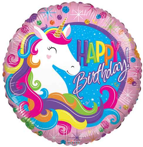 "18"" Unicorn Classic Birthday Balloon"