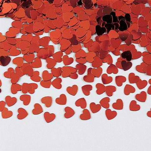 Red Hearts Shaped Confetti Pack