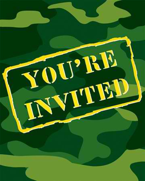 Camo Gear Invitation Cards & Envelopes