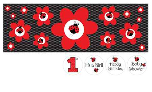 Ladybug Giant Party Banner