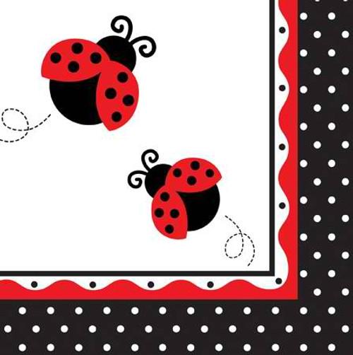 Ladybug 3-Ply Lunch Napkins
