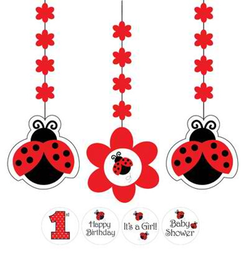 Ladybug Hanging Cutout with Stickers