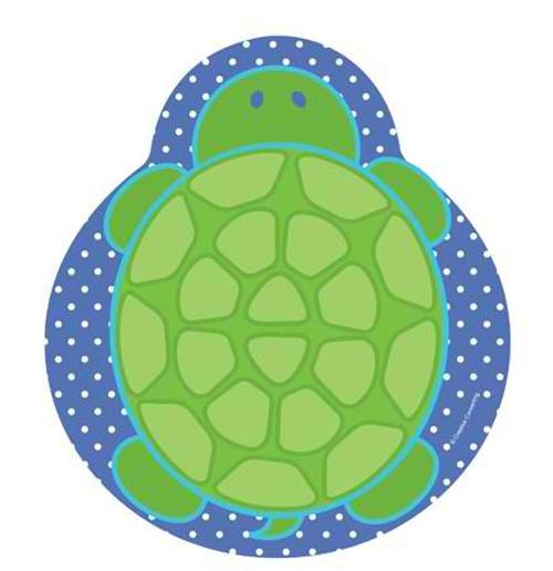 """Mr. Turtle 9"""" Turtle Shaped Dinner Plates"""