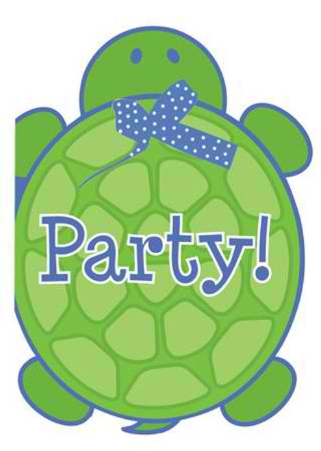 Mr. Turtle Invitation Cards & Envelopes