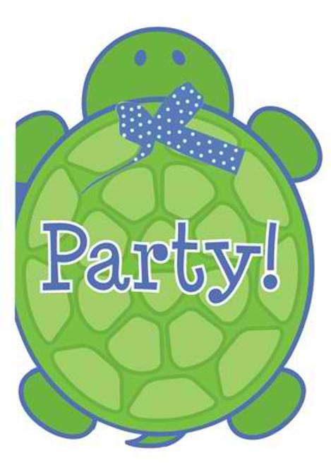 Mr. Turtle Invitation Cards & Envelopes