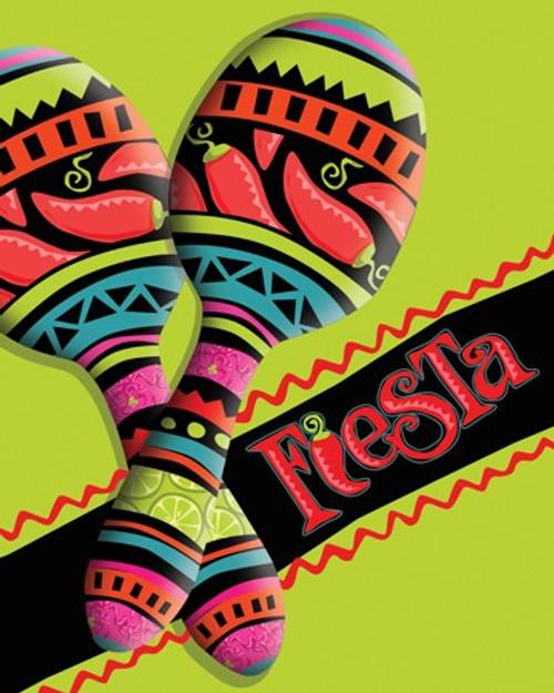 Caliente Fiesta Invitation Cards & Envelopes