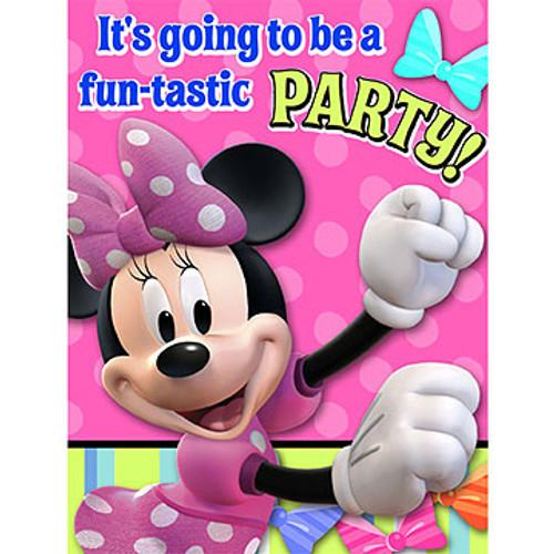 Minnie Bows Invitation Cards & Envelopes