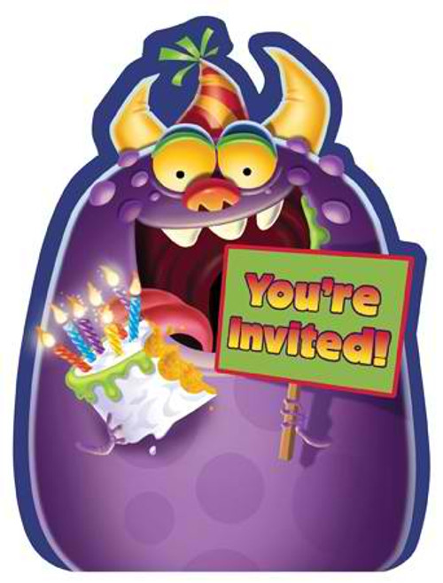 Monster Mania Invitation Cards & Envelopes