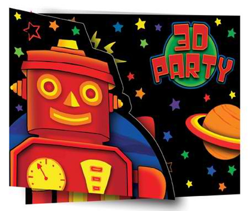 Party Bots Invitation Cards & Envelopes