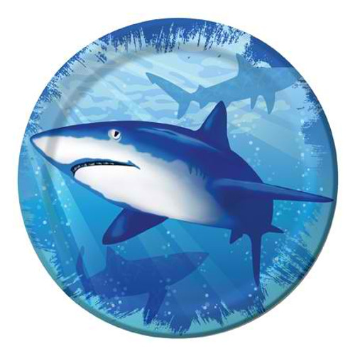 "Shark Splash 7"" Lunch Plates"
