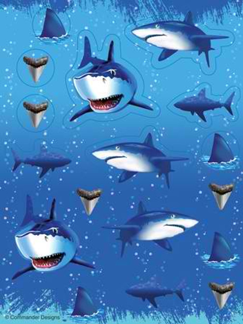 Shark Splash Value Stickers
