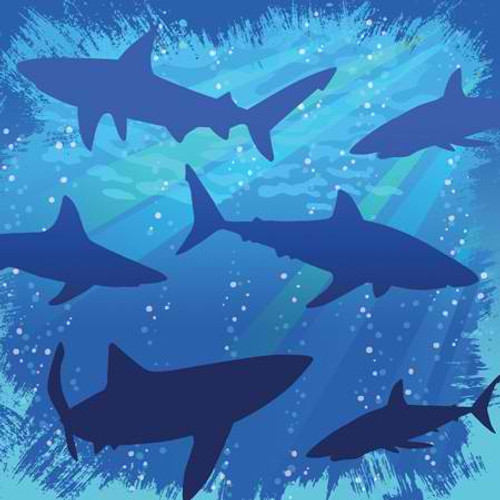 Shark Splash 3-Ply Beverage Napkins