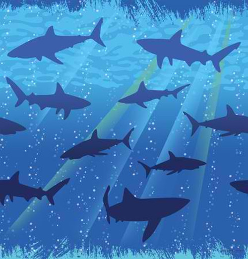 Shark Splash Plastic Tablecover