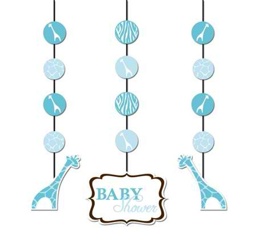 Wild Safari Blue Hanging Cutout
