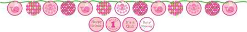 Ocean Preppy Girl Ribbon Circle Banner with Stickers
