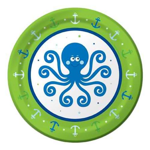 "Ocean Preppy Boy 7"" Lunch Plates"