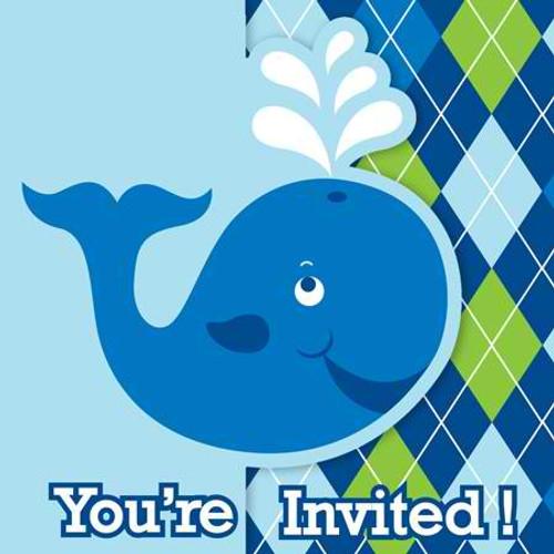 Ocean Preppy Boy Invitation Cards & Envelopes
