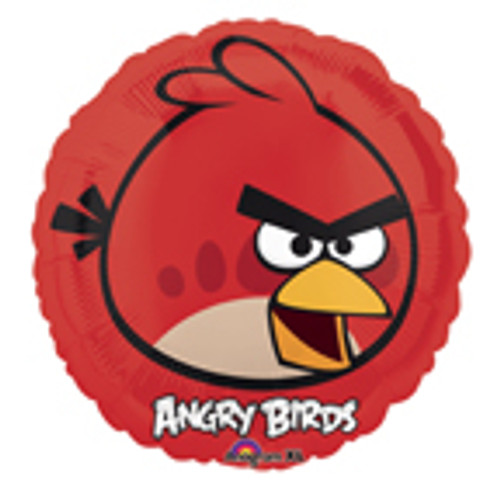 "9"" Angry Birds Red Bird Air Filled Balloon"