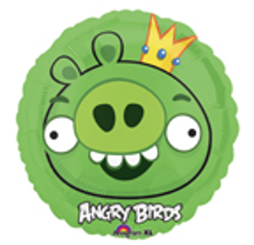 "9"" Angry Birds Green Pig Air Filled Balloon"