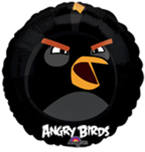 "9"" Angry Birds Black Bird Air Filled Balloon"