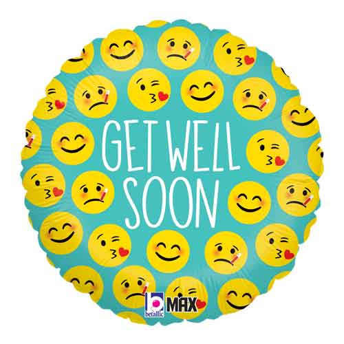 "18"" Emoji Get Well Balloon"