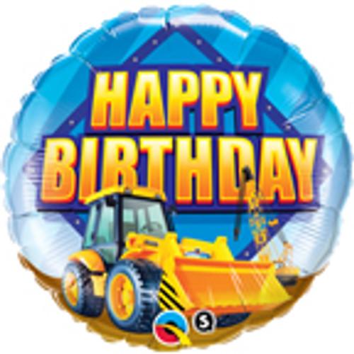 """18"""" Construction Zone Happy Birthday Balloon"""