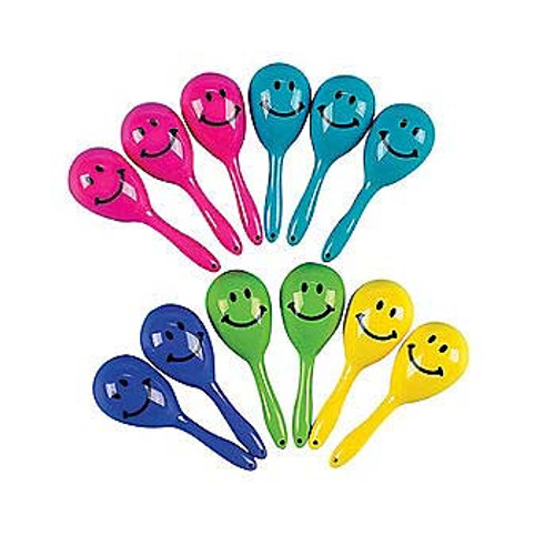 Mini Smile Face Maracas