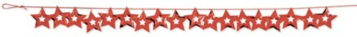 Red Stars 9' Confetti Garland