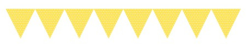 Yellow Paper Flag Banner with Dots