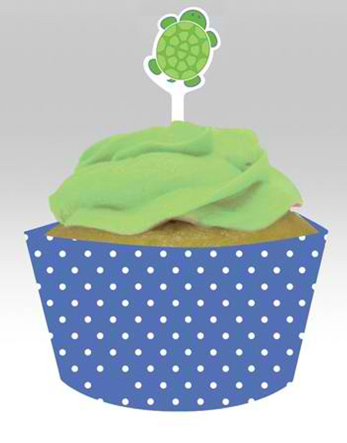 Mr. Turtle Cupcake Wrapper & Picks